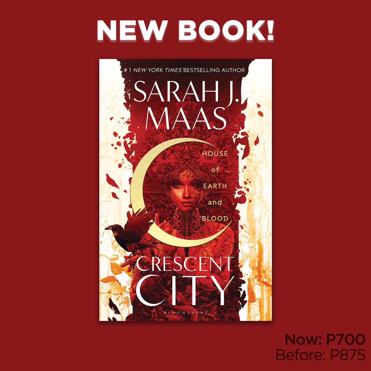 Only P700 (before: P875) for House of Earth and Blood (Crescent City #1) by Sarah J. Maas. Get it in selected branches or shop online now: .  #NBSNewReads #NBSfinds #NBSeveryday