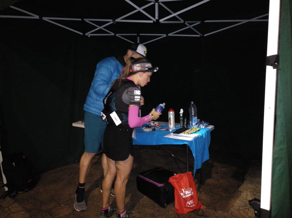 Azara García leads the 2020 #Transgrancanaria at Fontanales (40 kilometers) in 4:07:23 elapsed.