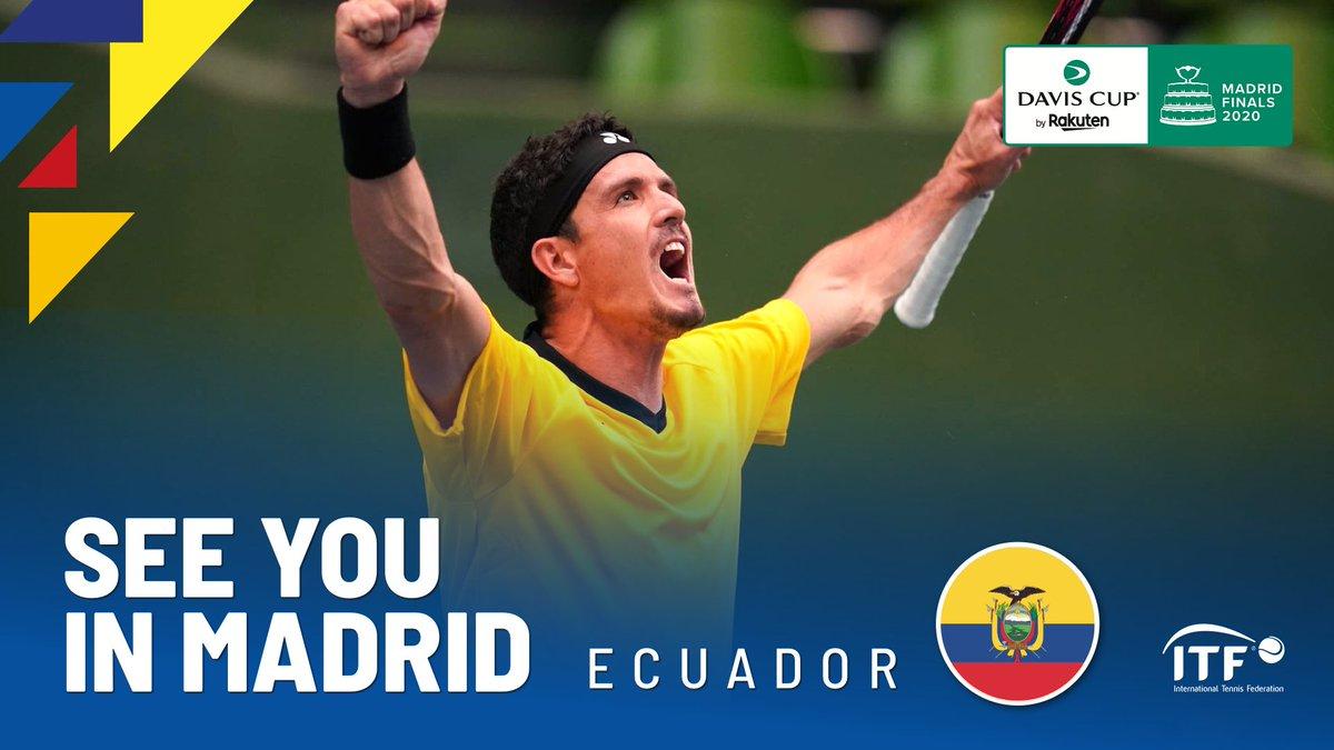 ECUADOR Congratulations to the first team qualified @FETenis   Next stop #DavisCupMadridFinals <br>http://pic.twitter.com/kbRnO9pPTC
