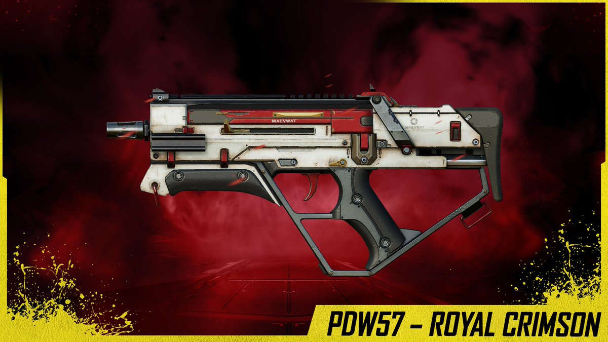 Next Credit Store Update will be on March 16th! This is the following things that will contain:  ‼SMG: PDW-57 – Royal Crimson (Epic)  ‼Sniper Rifle: Arctic.50 – Holiday Ribbons (Rare)  ‼Assault Rifle: Type 25 – Hearts (Uncommon)  ‼Launcher: FHJ-18 – Hearts (Uncommon)