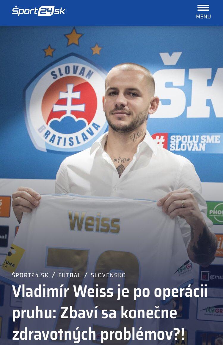 Želáme skóre uzdravenie  Viac na https://sport24.pluska.sk #vladimirweiss #skslovanbratislavapic.twitter.com/svO32EvdmI