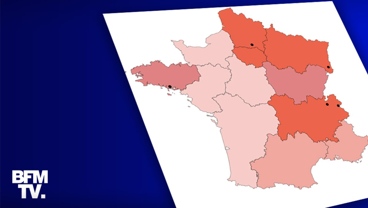 Bfmtv No Twitter Carte Coronavirus En France Le Nombre De Cas Region Par Region Https T Co 3karlzk3f4