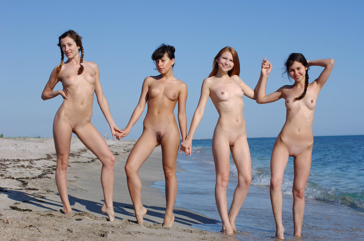 Nudist family spread