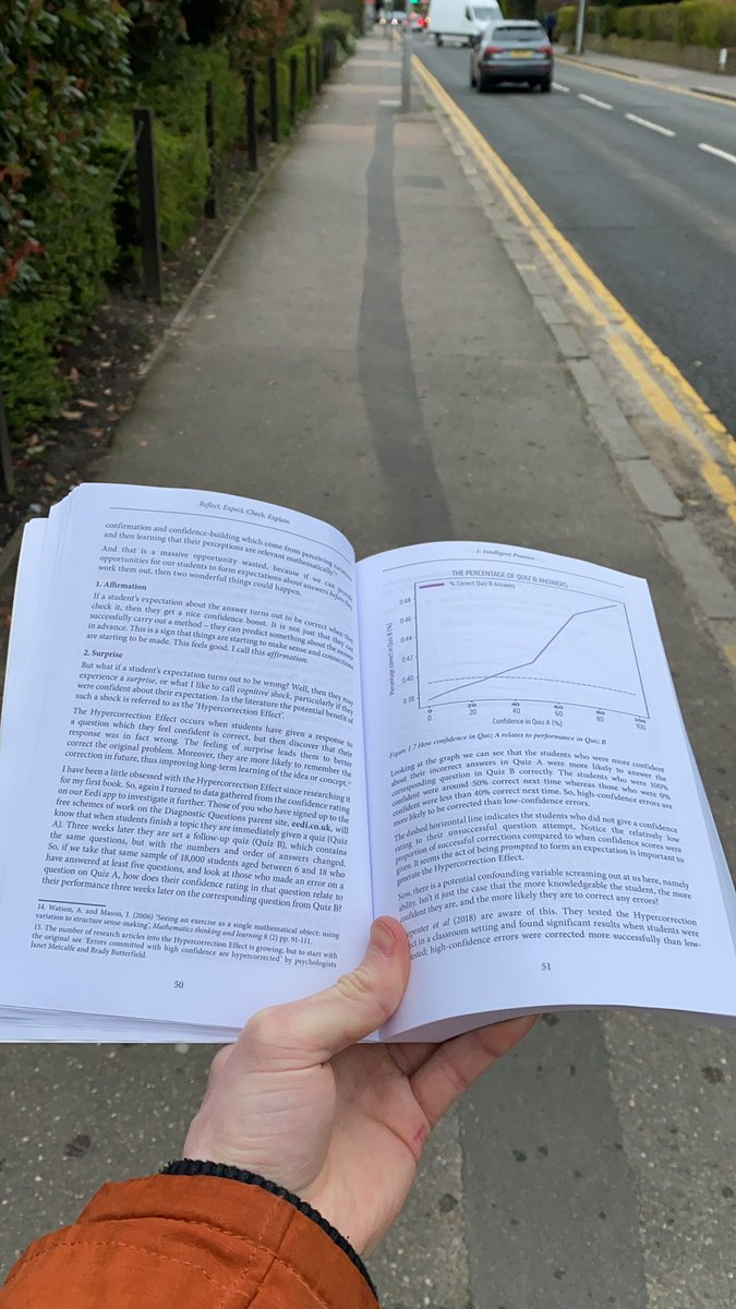 When you should be looking where you're going but you know @mrbartonmaths new book is just too important!