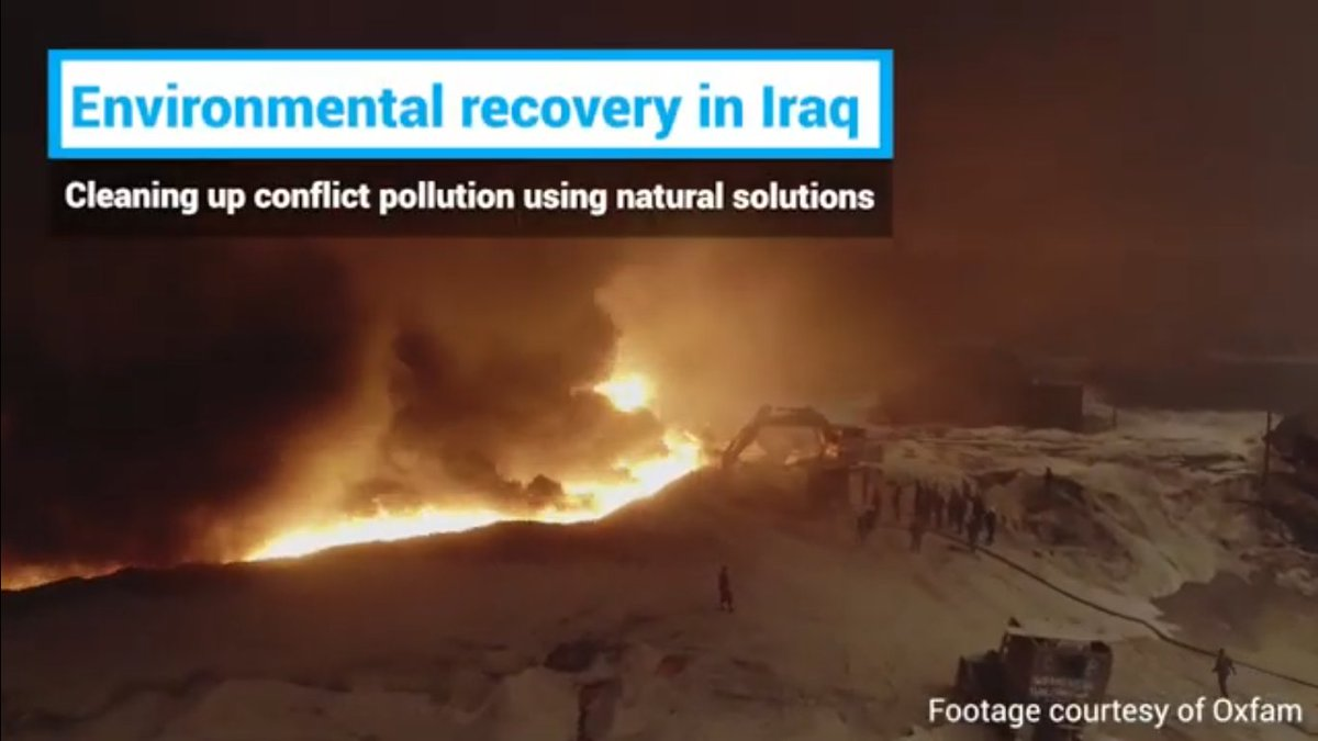 There's a huge amount more to be done but it's satisfying to see 2017's UN Environment Assembly resolution on conflict pollution - inspired by the oil fires in #Iraq - being used by @UNEP to leverage resources to address IS's legacy, and with #naturebasedsolutions too. #UNEA5