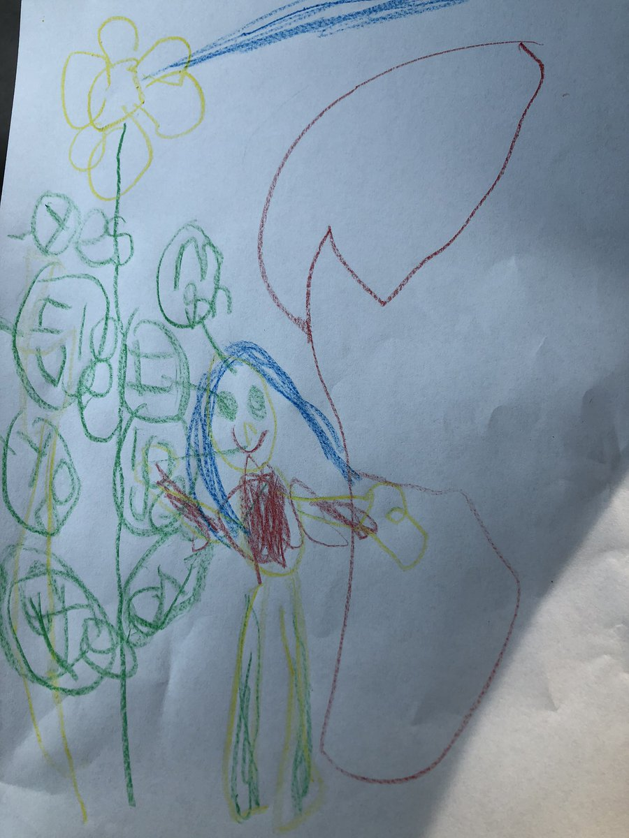 Little Miss made a graphic novel this morning with no prompting from yours truly. Survey says: she's definitely mine.