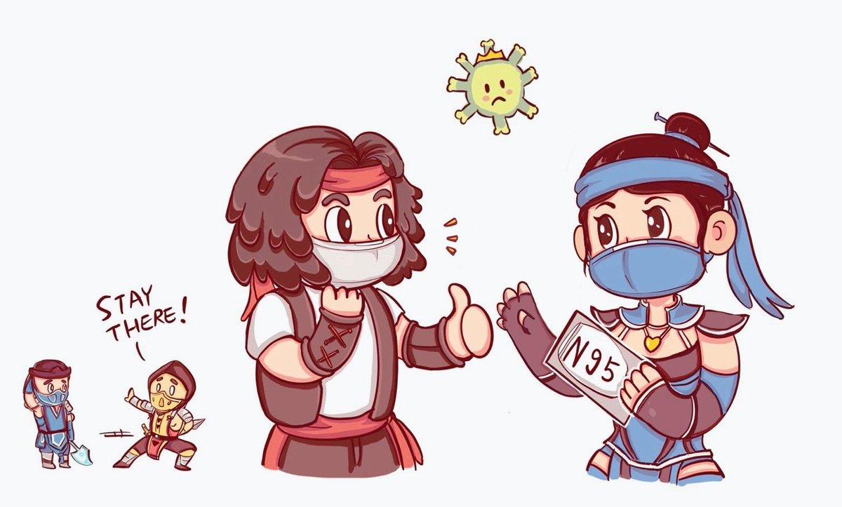 mortal kombat mask meme coronavirus