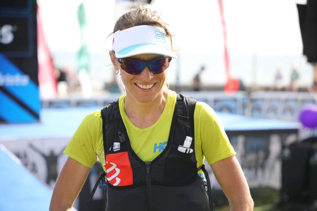 Audrey Tanguy (@HokaOneOne) is fourth at the 2020 #Transgrancanaria in 16:59:15. #MomHug