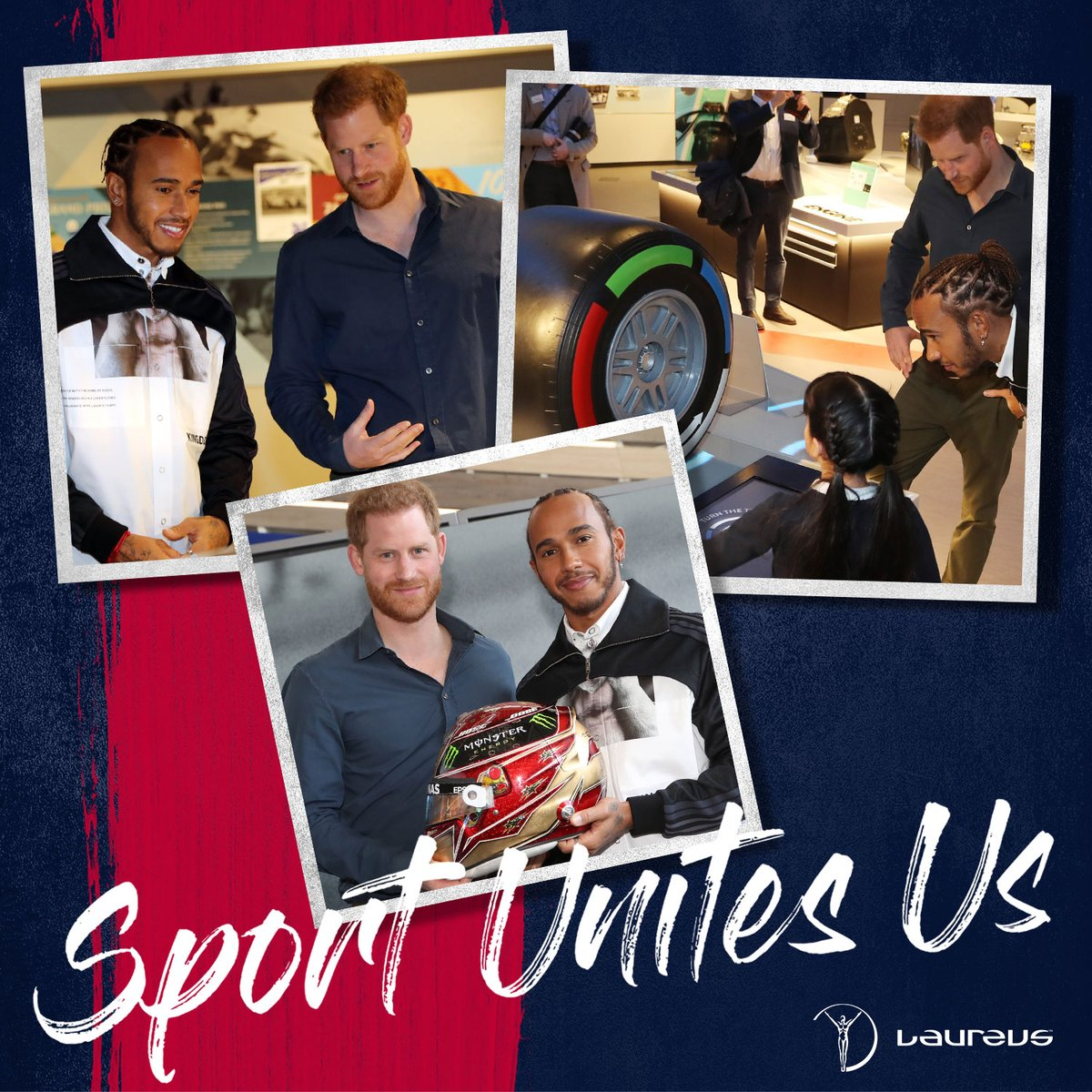 """""""Prince Harry and I opened the Silverstone Experience Centre. Their mission is to inspire the next generation of kids, in engineering, marshals, mechanics. This is something I am really passionate about, helping the next generation.""""  #SportUnitesUs"""