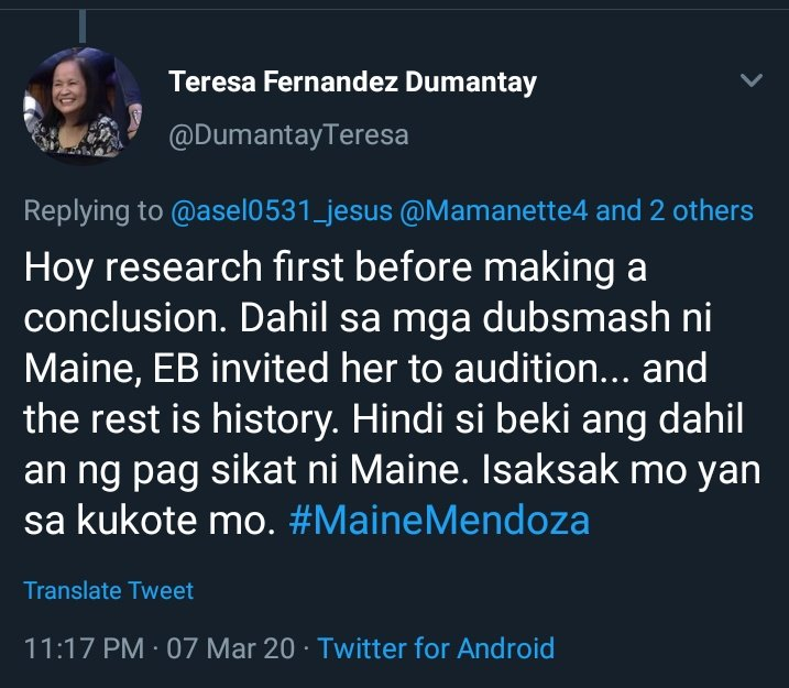 Yes. Do YOUR research right. She went there, and after a week, BORED audiences wanted her out and EB execs dont know what to do with her anymore. Until that fateful moment THE BEDIMPLED HUNK smiled at her. And the rest is HISTORY. https://t.co/ShJ98jmaAn