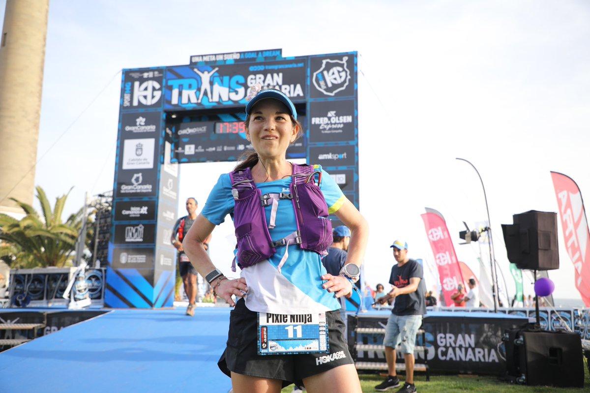 Kaci Lickteig (@HokaOneOne) runs her way to sixth at Transgrancanaria 2020 in 18:39:51.