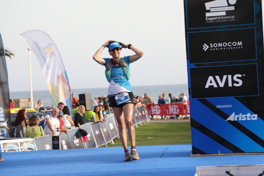 Andrea Huser (@HokaOneOne) takes seventh at #Transgrancanaria 2020 in 18:44:02.