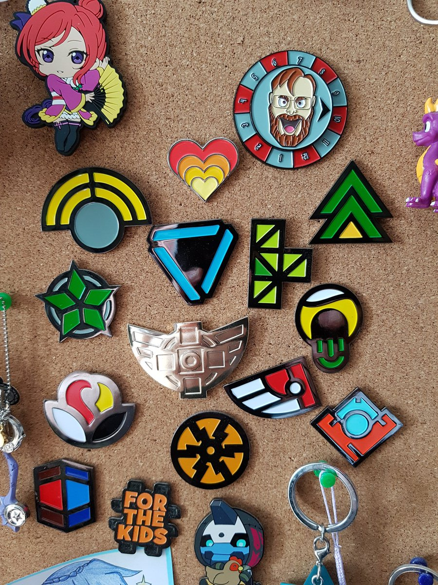 Finally put up all my #RTExtraLife pins from over the years. https://t.co/OfjqQzm801