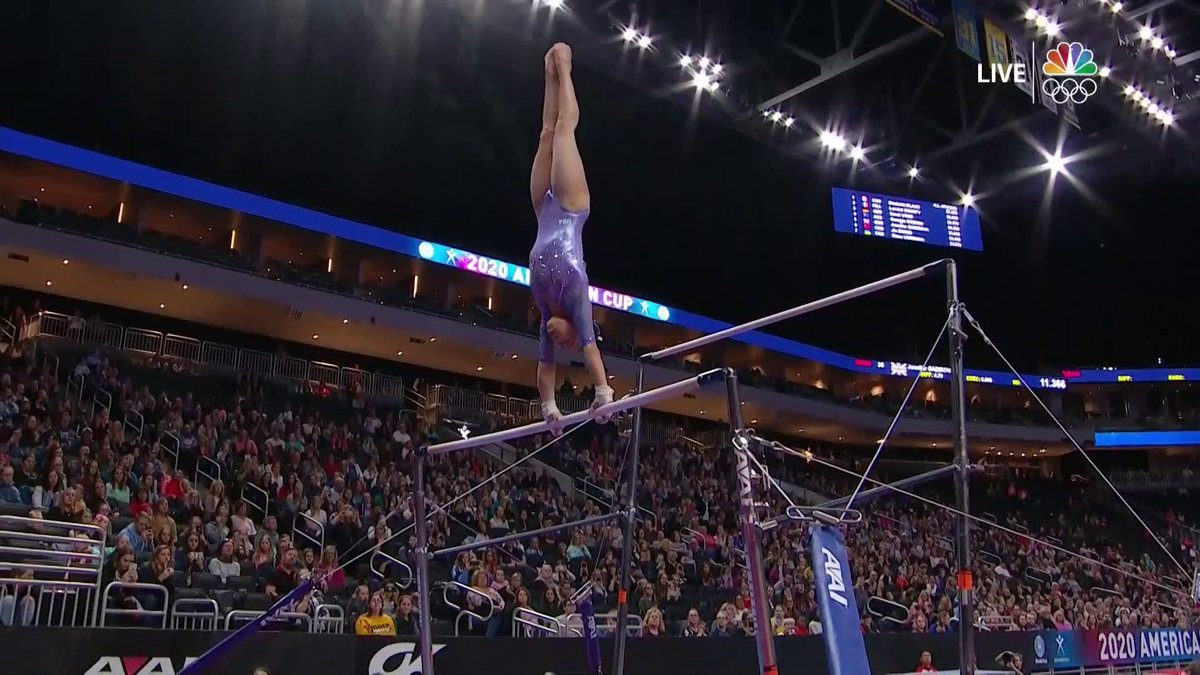 😍😍😍 @morgihurd just threw down this spectacular uneven bars routine. @USAGym | #AmericanCup