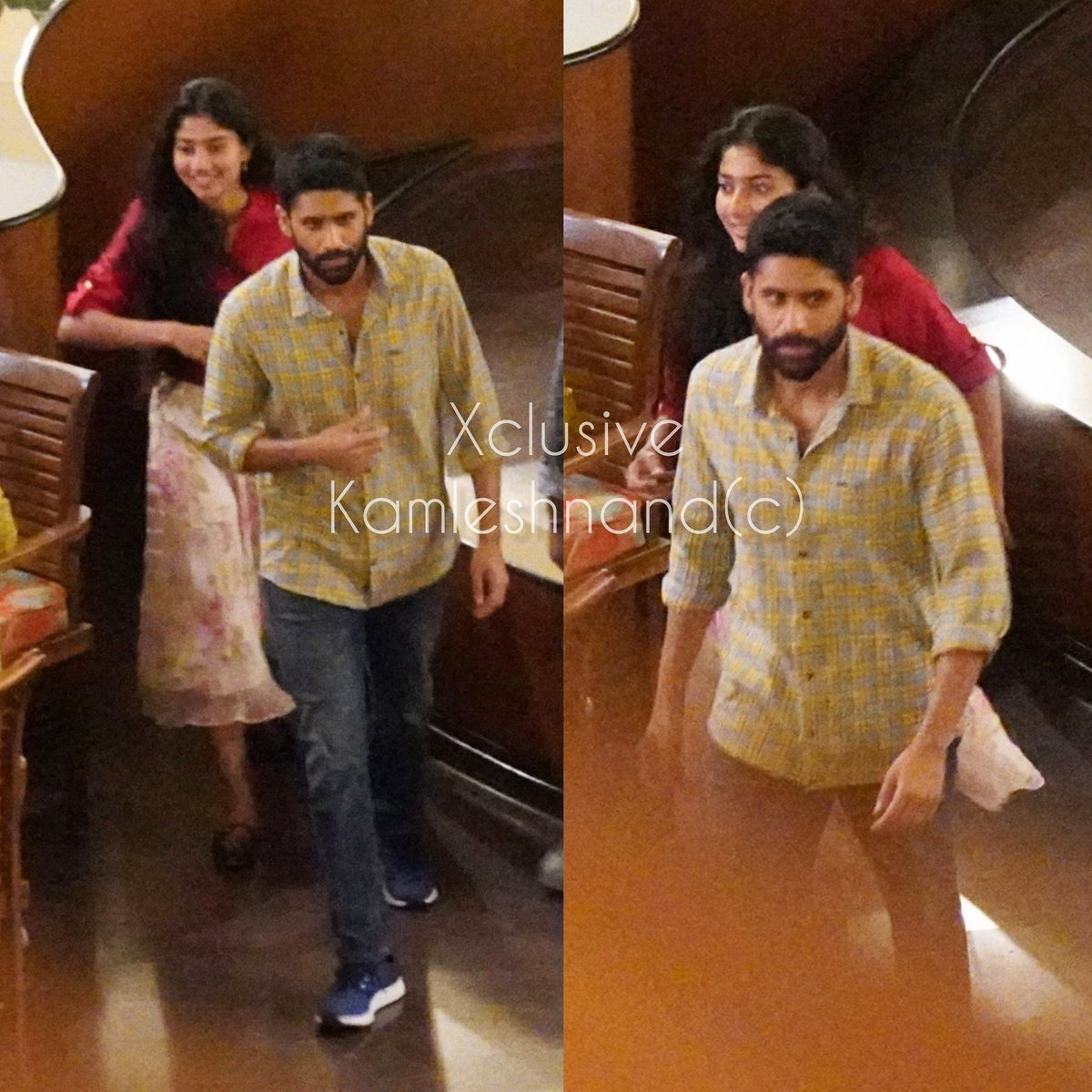 Xclusive  Tollywood stars #nagachaitanya #Saipallavi spotted shooting at hotel in Hyderabad for #LoveStory @kamlesh_nand  #southcelebs pic.twitter.com/BT4lV816zk