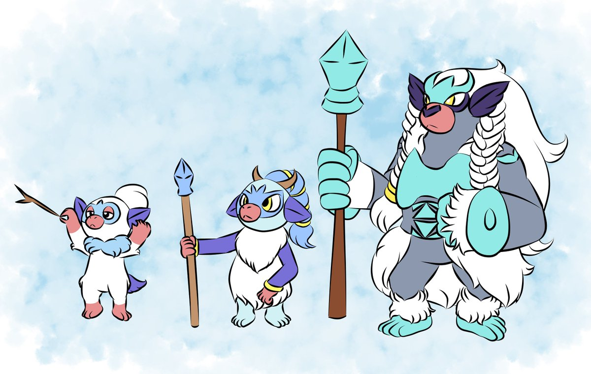 Zephyr On Twitter I Made An Ice Type Grookey Line Based Off Snow Monkeys Vikings And Opera Singers The grookey line is likely inspired by various primates and by british rock band drummers, lockstin & gnoggin argues. snow monkeys vikings
