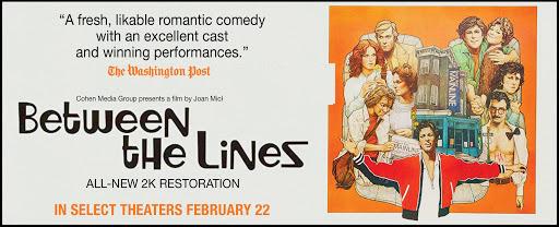 "BETWEEN THE LINES (1977) Dir: #JoanMicklinSilver. About dying Boston alternative newspaper & death of 60s counterculture. A ""Big Chill"" before #TheBigChill or Secaucus Seven. Starring John Heard, #JeffGoldblum, #BrunoKirby, #LindsayCrouse, @TheRealMarilu Henner,  #MichaelJPollard pic.twitter.com/gybRTtxLN6"