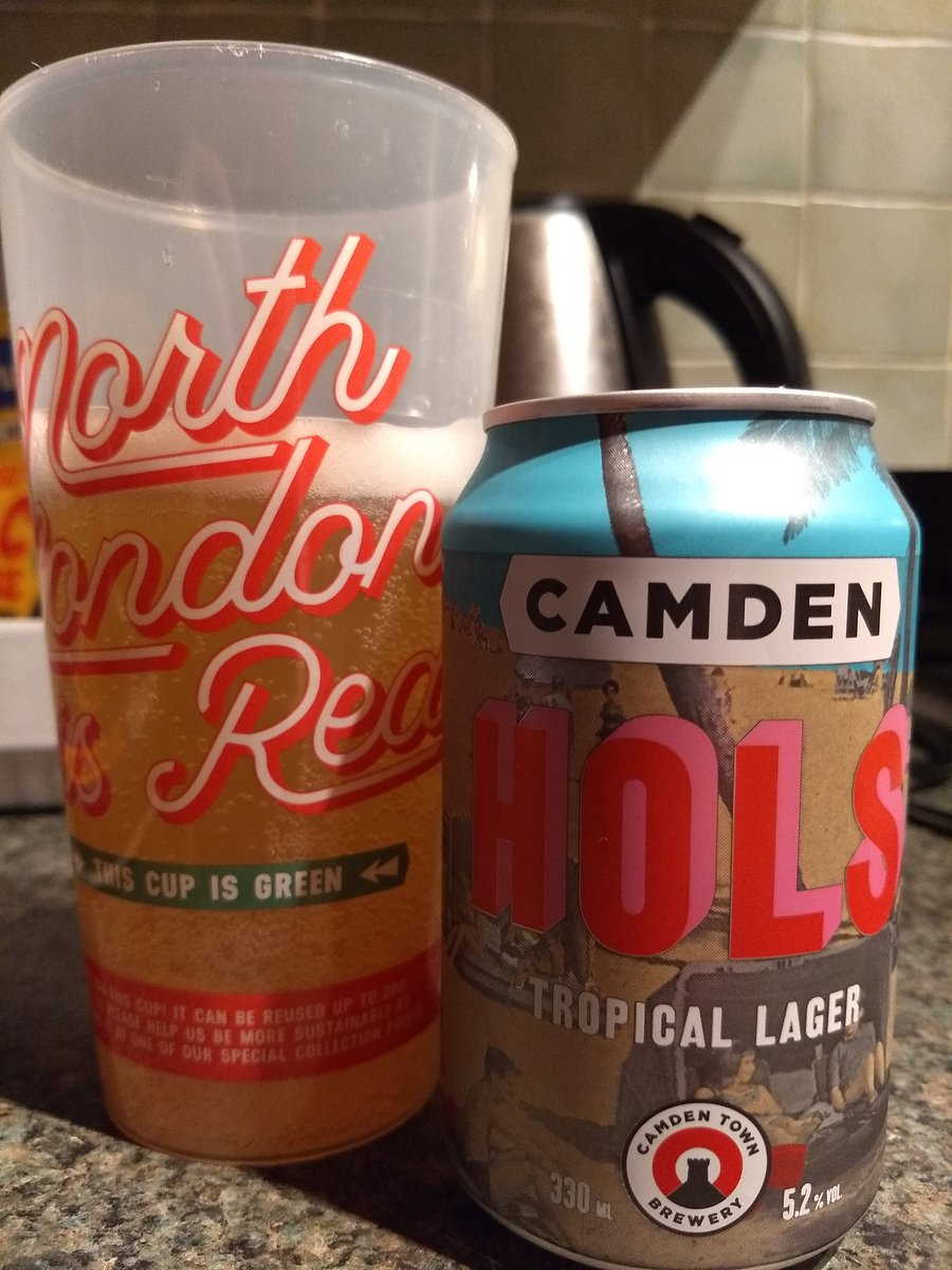 Back home from The @Arsenal and relaxing with a @CamdenBrewery Hols. #NorthLondonIsRed #COYG