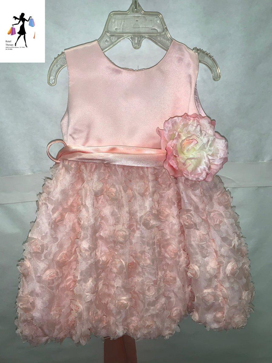 Stunning White Christening Flower Girl Dress w//Pink Petals Crayon Kids USA