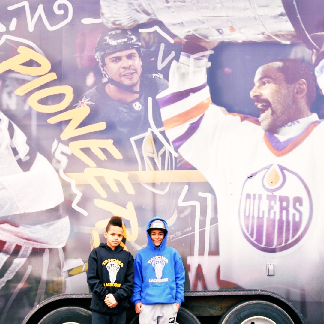 Seeing a whole lotta smiles at the Black Hockey History Mobile Museum 😁