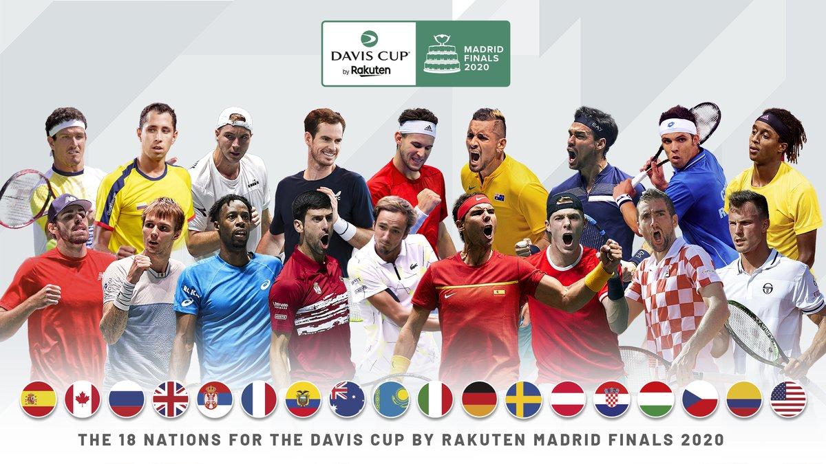 18 countries 🌍 1 WORLD CHAMPION 🏆 See you in Madrid 🎾 #DavisCupFinals #ByRakuten