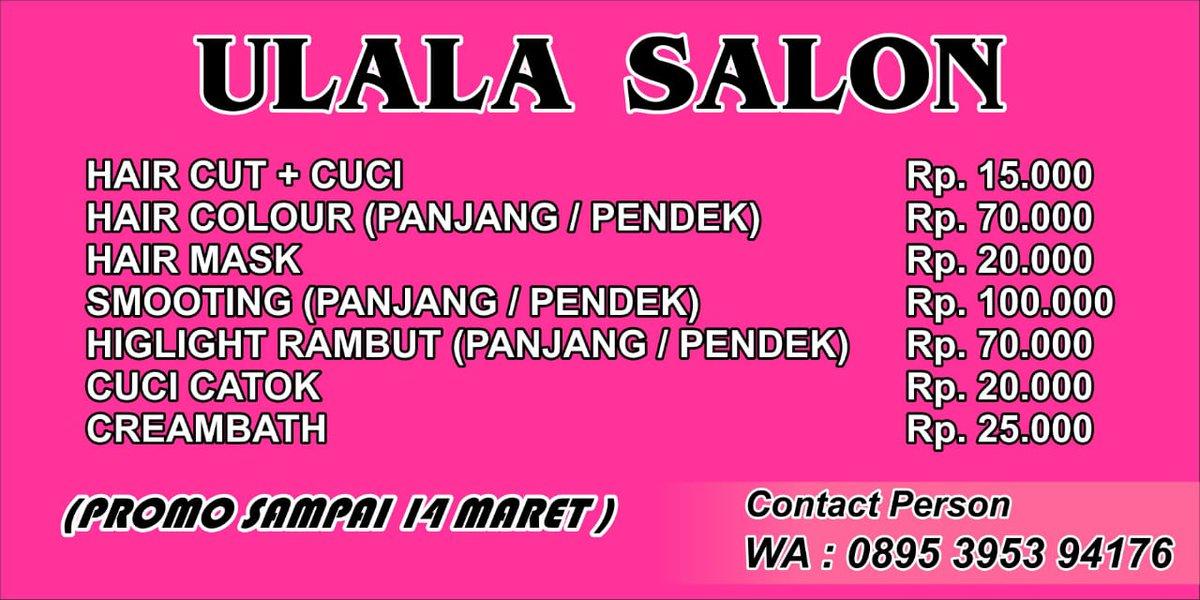 Malangbtirto rahayu gang 4 no 28 Promo special,  bisa home service juga loh...  #salonmalang #ulalasalon #Malang #paidpromo  #paidpromotepic.twitter.com/EbvOrPDqTi