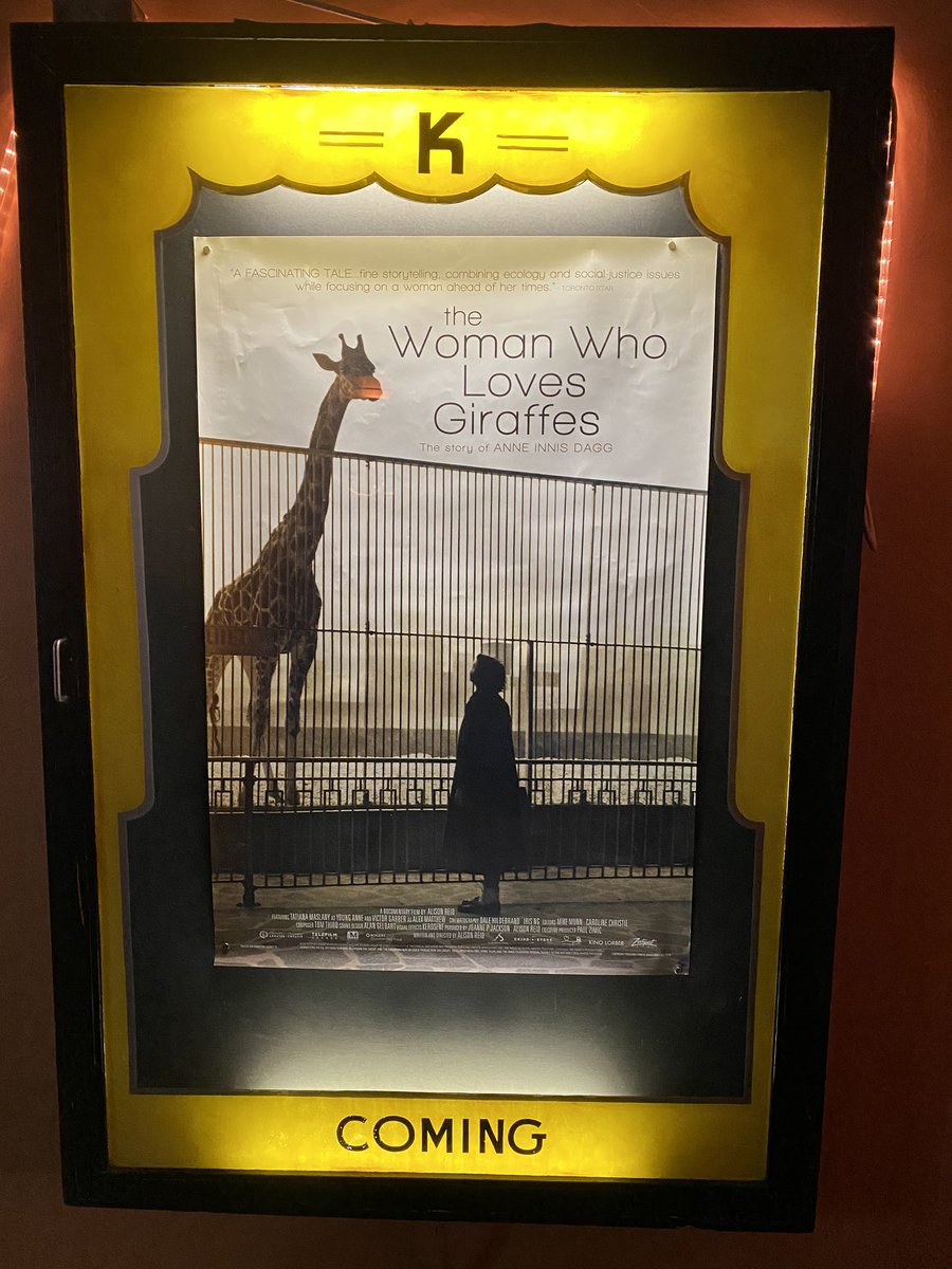 So many sads!  Maybe our last movie at the Ken, giraffes are going extinct, and this woman deserved so much more support in her quest.  I ugly cried watching this movie. #thewomanwholovesgiraffes #conservation #sexismisreal #science #endextinction pic.twitter.com/tdoVenCOet