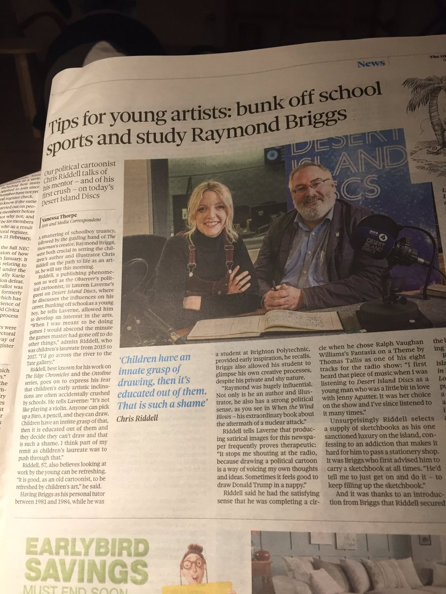 In The Observer this morning...