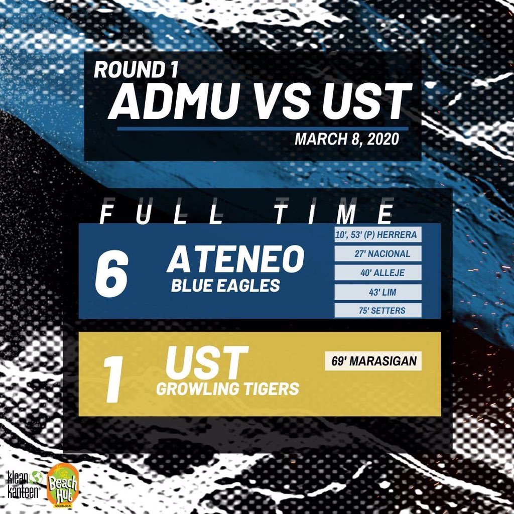 Beautiful display of football shown by the boys today! Dont miss out on the action this Thursday, March 12, 2020, as we go against the FEU Tamaraws at 6:30 PM. See you there! #OBF #StayHungry