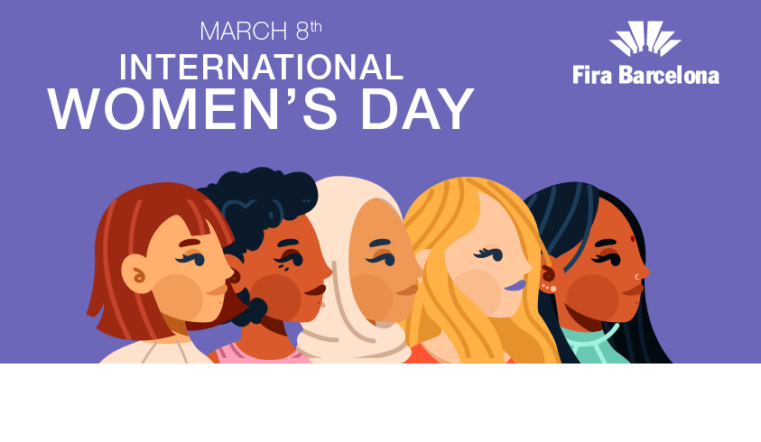 For gender equality in all areas, Fira de Barcelona joins the #InternationalWomensDay #WomensDay #8M #8M2020