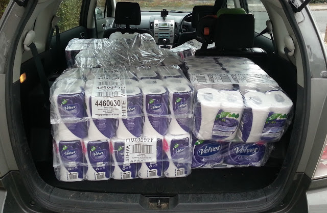 Sent ones maid off to get one a few toilet rolls. #PanicBuyingpic.twitter.com/aA1ag6u3vg