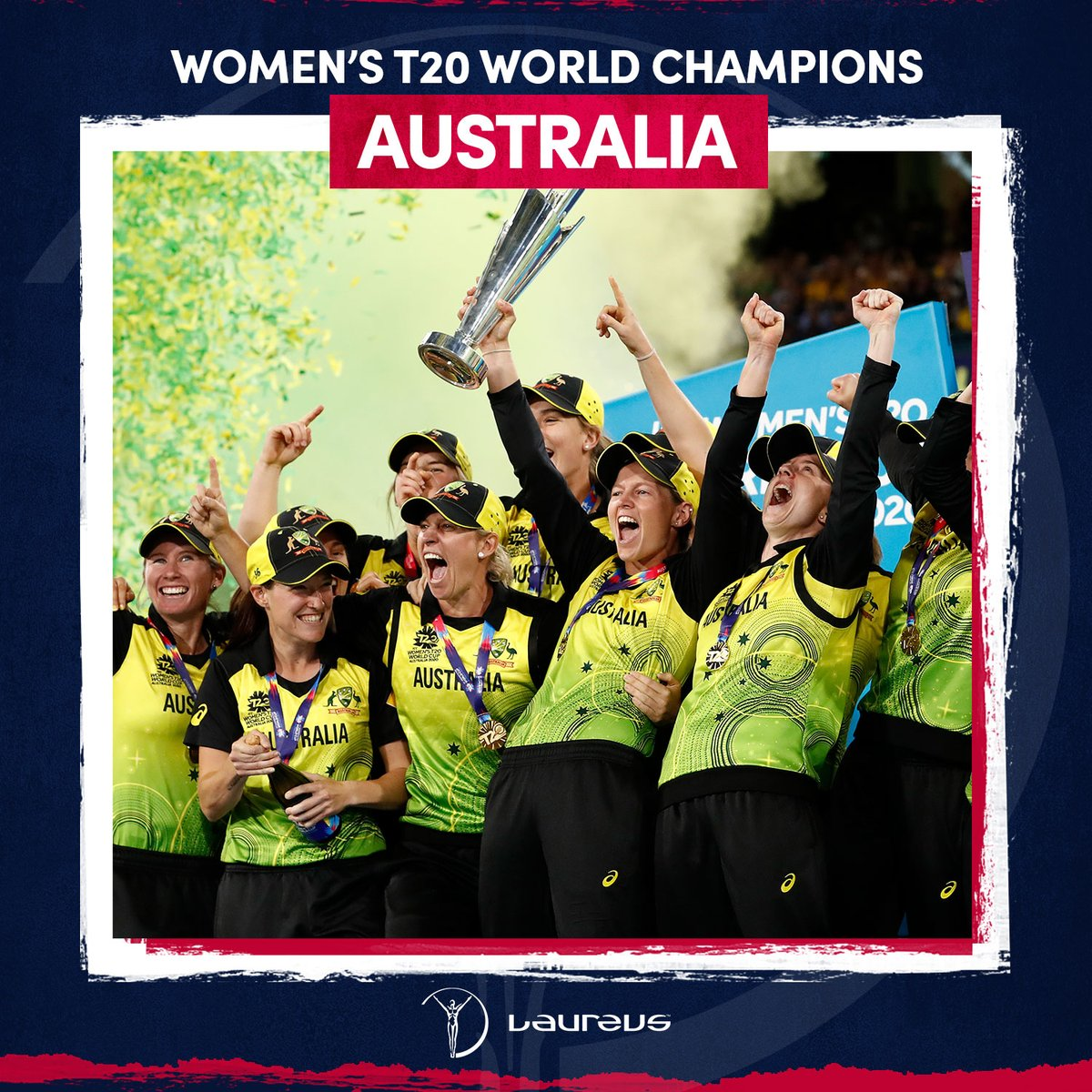 🏆 @AusWomenCricket 🇦🇺  On #InternationalWomensDay the hosts win their fifth Women's T20 World Cup title in front of 86,174 🙌  #CmonAussie #IWD2020 #SportUnitesUs