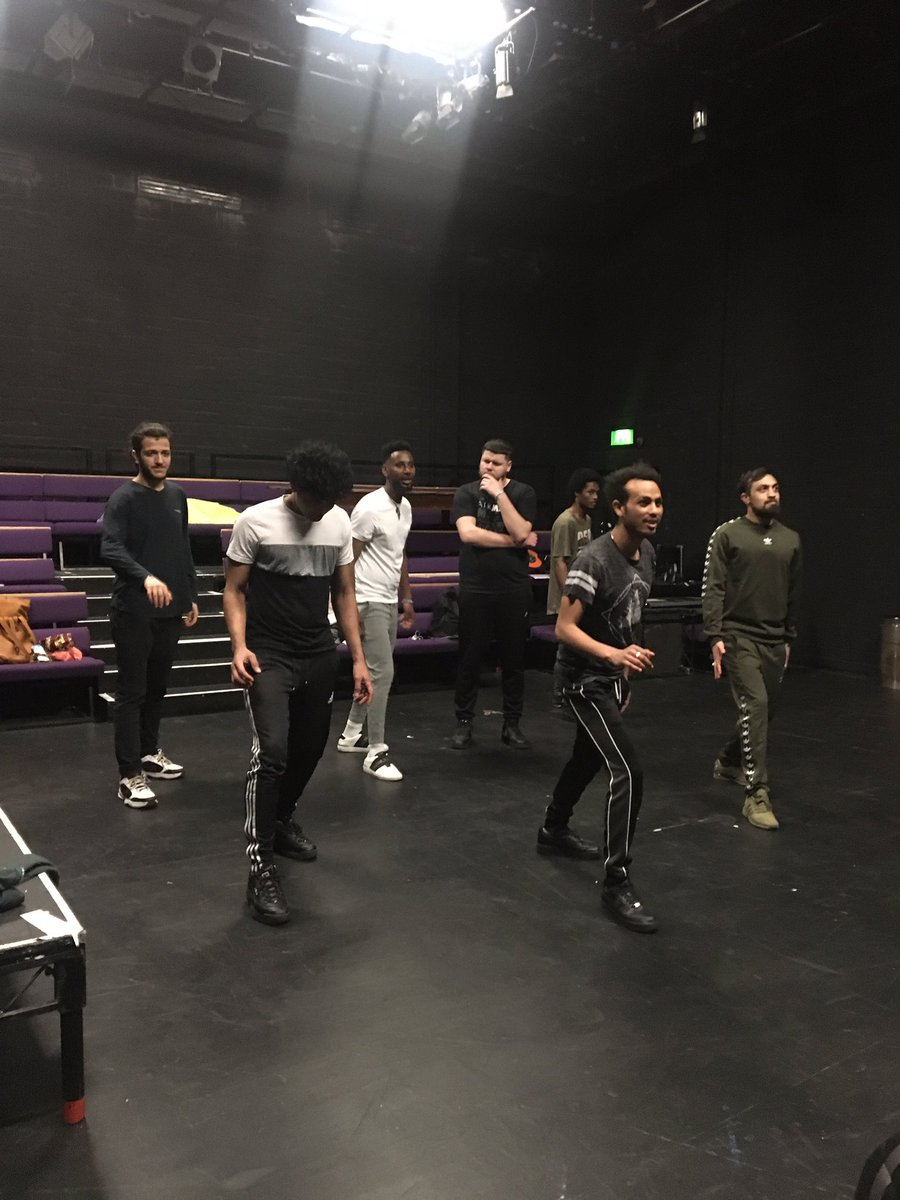 Busy in rehearsals yesterday with our movement director @SeanHollands