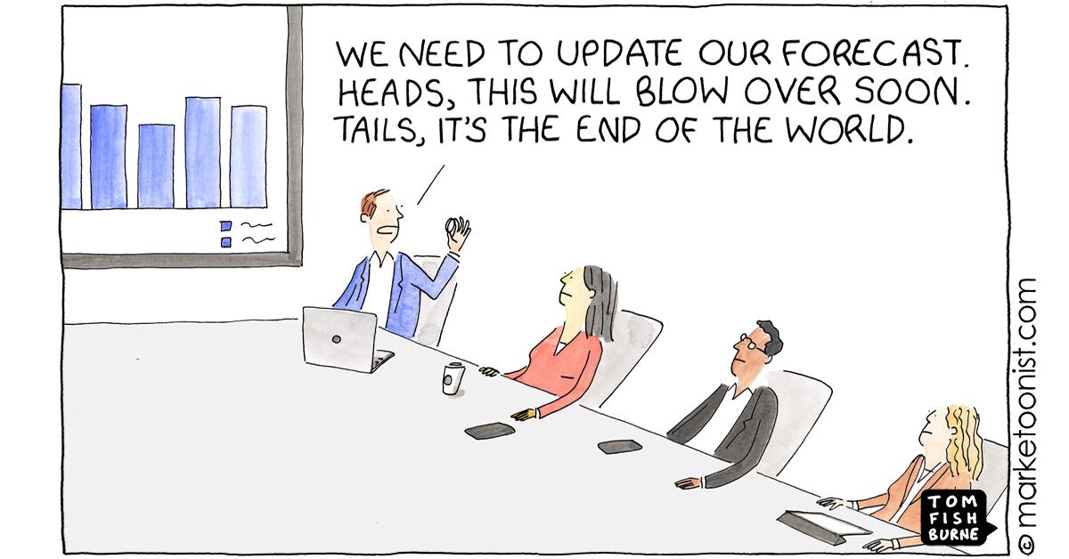 """Managing Uncertainty"" - new cartoon and post https://t.co/9QCoy5bZUt #marketing #cartoon #marketoon https://t.co/CamZhEYGKk"