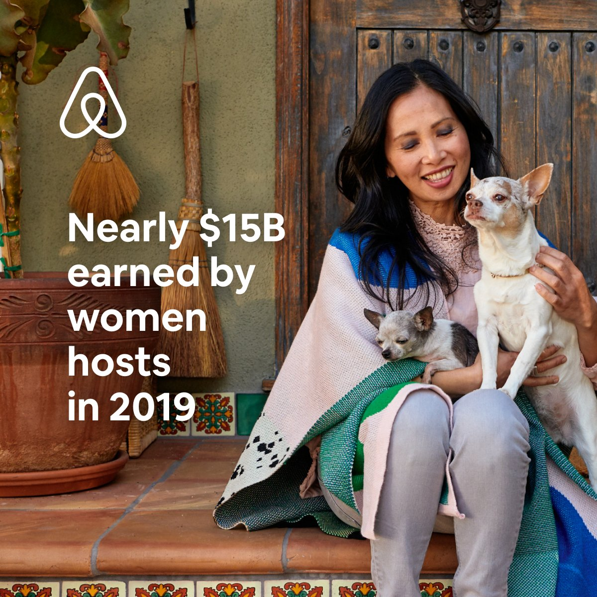 With women hosts earning nearly $15B in 2019, women continue to lead the way in our community. 📈54% report their earnings have helped them grow their business 🏠51% said the money from hosting has allowed them to stay in their homes See details here: abnb.co/gcrm