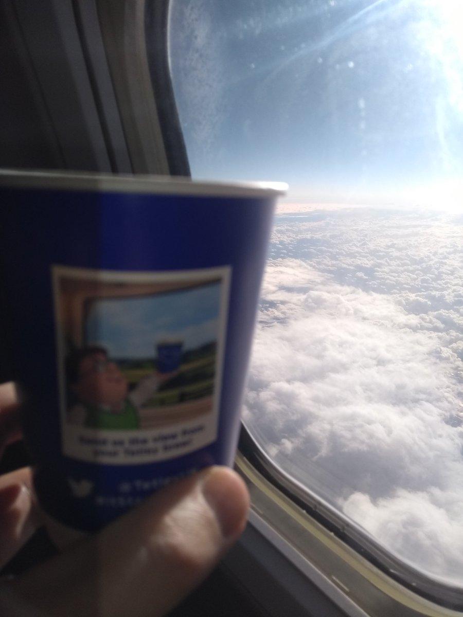 @TetleyUK #itStartsWithTea 35000ft above cloudy France https://t.co/9JjsMfTCIm