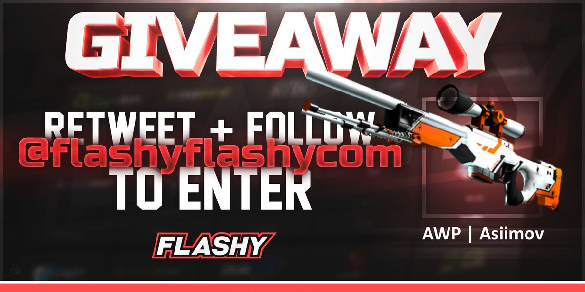 🔥 24H GIVEAWAY !!! 🏆 AWP Asiimov !  To win: 🔻 Visit to support us:  🔻 Visit for more raffles:  🔻 Retweet 🔻 Follow us 🔻 Turn on twitter notifications  #flashyflashy #giveaway #csgoskins #CSGOGiveaway