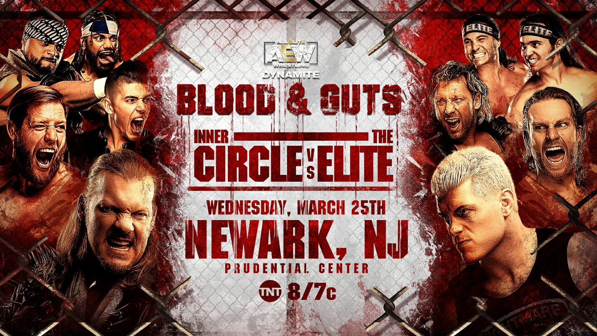 Inner Circle Vs. The Elite To Compete In First-Ever AEW Blood & Guts Match