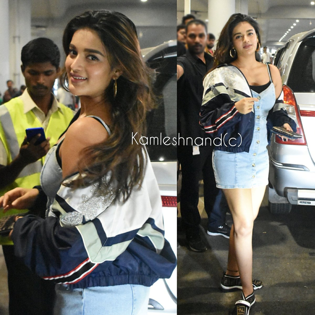 Hotiee #NidhhiAgerwal papped @ hyd @AgerwalNidhhi @kamlesh_nand #tollywood #southcelebs pic.twitter.com/eAOBNHDTTq