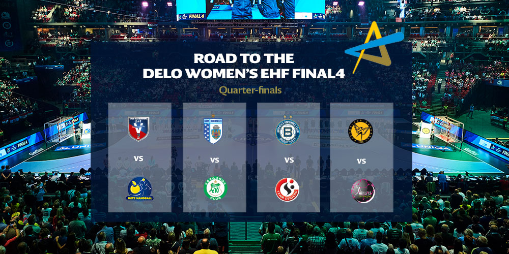 👉 The #deloehfcl quarter-final pairings are revealed as the teams eye the road to the #ehffinal4! #ehfcl #SCMRamnicuValcea 🇷🇴 vs @MetzHandball 🇫🇷 @csm_bucharest 🇷🇴 vs #GyőriAudiETOKC 🇭🇺 @ZrkBuducnost 🇲🇪 vs @TeamEsbjerg 🇩🇰 @rostovhandballe 🇷🇺 vs @BBH_Officiel 🇫🇷 https://t.co/MboBWrghTS