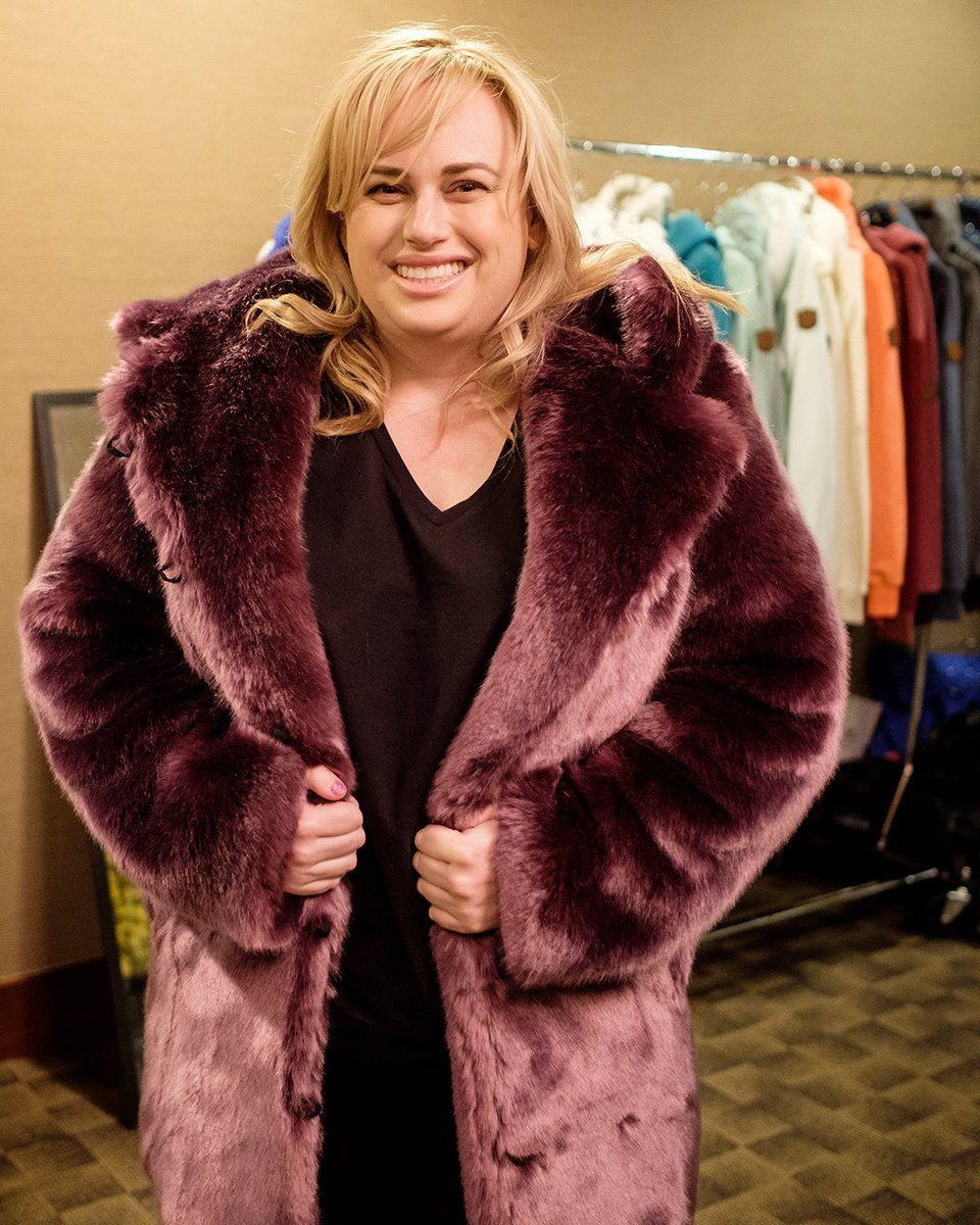 Rebel Wilson looking UHHMAZINGGG in our Classic Lavender Wolf Luxe Faux Fur Coat @ the #MammothFilmFestival last week!  : @rebelwilson : Classic Lavender Wolf Luxe Faux Fur Coat : Browse our webstore:  https://soo.nr/Sz99 pic.twitter.com/mrnRJDcjhu