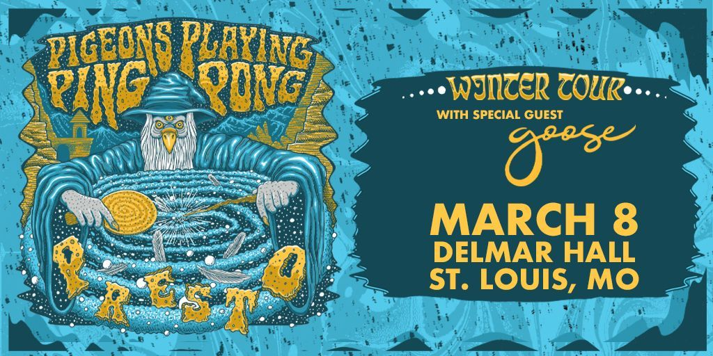 TONIGHT! (SOLD OUT) @pigeonsplaying - 9:45pm @goosetheband - 8:00pm Doors - 7:00pm All Ages $2 Minor Surcharge at Door (Cash only)