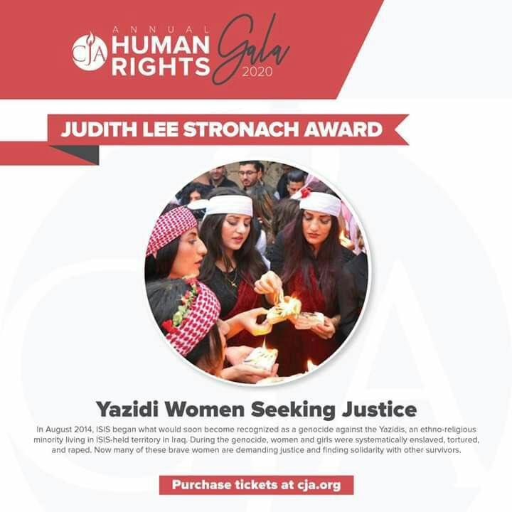 Center for justice and accountability is celebrating International Womens Day by honoring Yazidi women seeking justice with judith lee stronach award. #في_يوم_المرأة #يوم_المرأة_العالمي #8_أذار #ايزيدي٢٤_Ezidi24