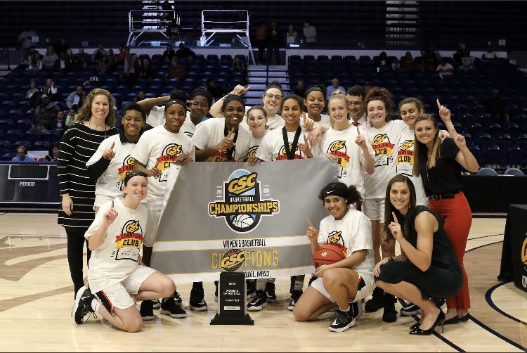I am so ridiculously proud of this group! GSC TOURNAMENT CHAMPS!  🏆 On to NCAA! 💍✂️ https://t.co/KCgQS155J4