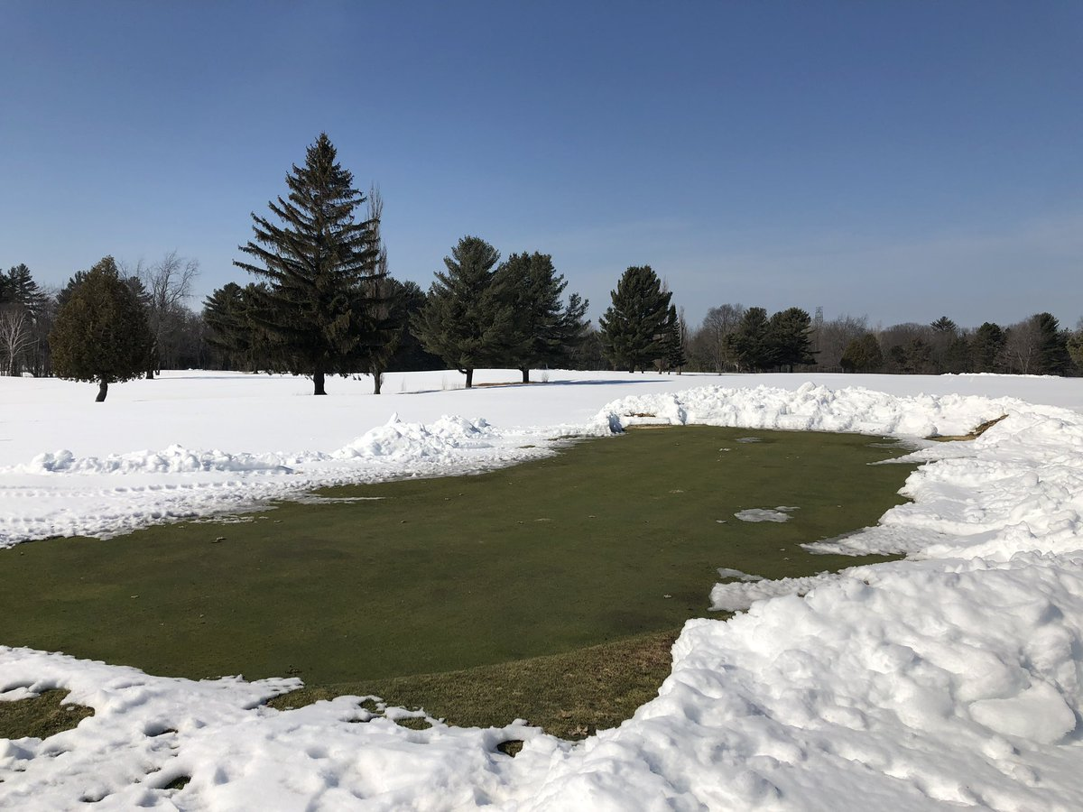 Greens are looking good under the snow 🙌 https://t.co/o5UaY3oOPf