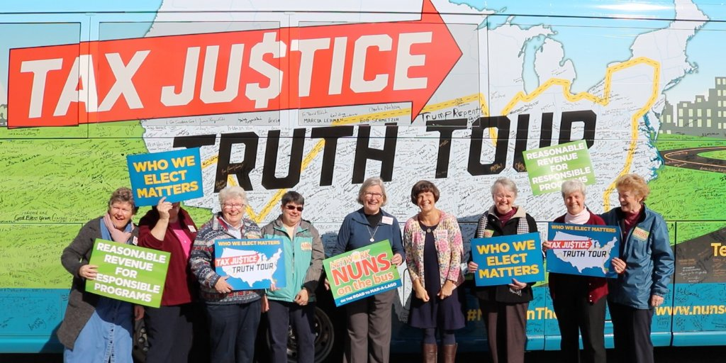 Happy #InternationalWomensDay! We're grateful today for all of the women justice-seekers, like #NunsontheBus, who inspire our advocacy! https://t.co/aqBGcNtevG