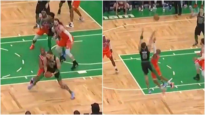 【影片】識破對手戰術!保羅預判關鍵球會傳給Tatum,並主動要求去防守他!-籃球圈