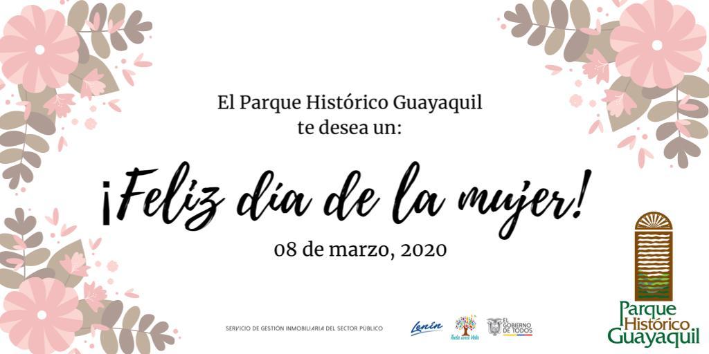 ¡Feliz día de la mujer les desea el #ParqueHistóricoGye! https://t.co/hTlFs4ZjGW