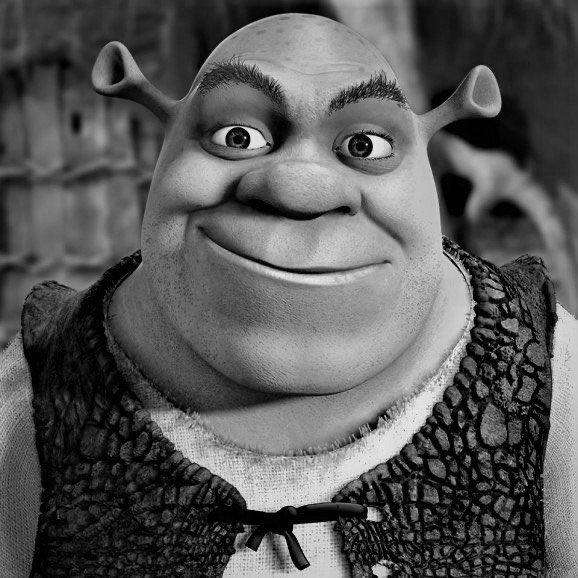 Shrek Knows Rap On Twitter Black And White Pics