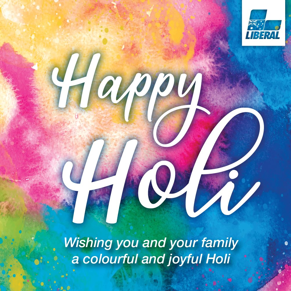 To everyone celebrating the Festival of Colours, happy Holi!